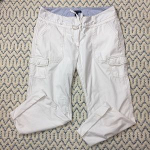 Tommy Hilfiger White Cargo Crop Pant. Size 10